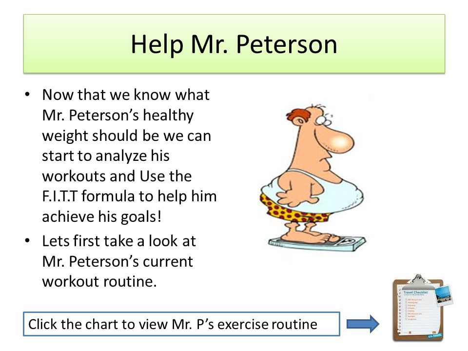 Help Mr. Peterson Now that we know what Mr.