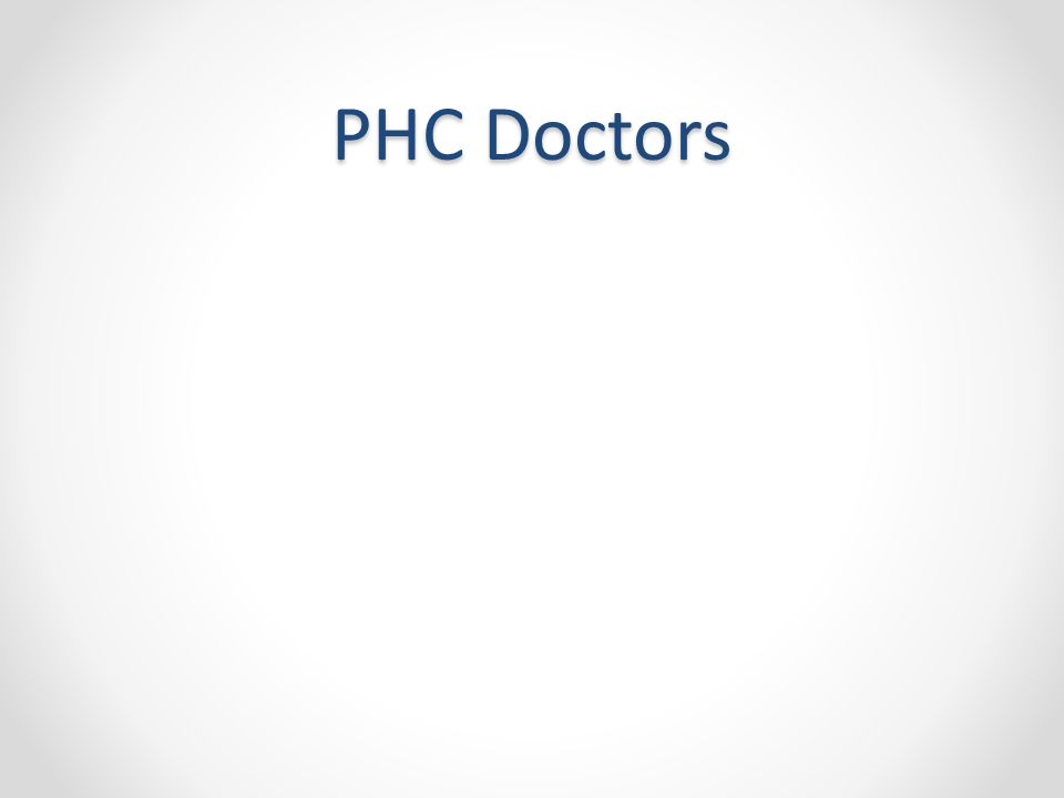 PHC Doctors