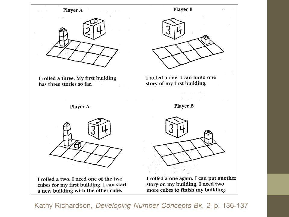Kathy Richardson, Developing Number Concepts Bk. 2, p. 136-137