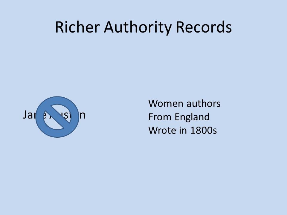 Richer Authority Records Jane Austen Women authors From England Wrote in 1800s
