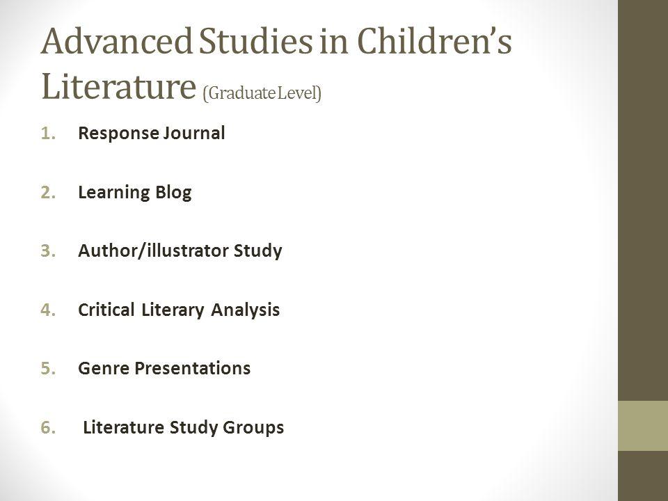 Children's Literature in the Classroom (Undergraduate Level) 1.