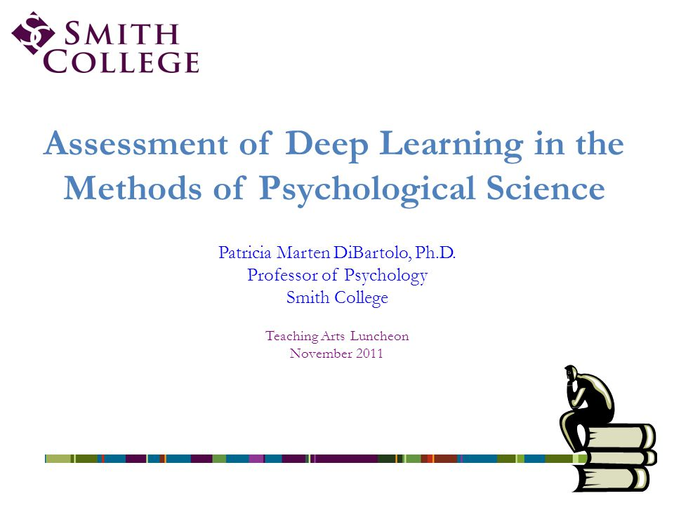Assessment of Deep Learning in the Methods of Psychological Science Patricia Marten DiBartolo, Ph.D.