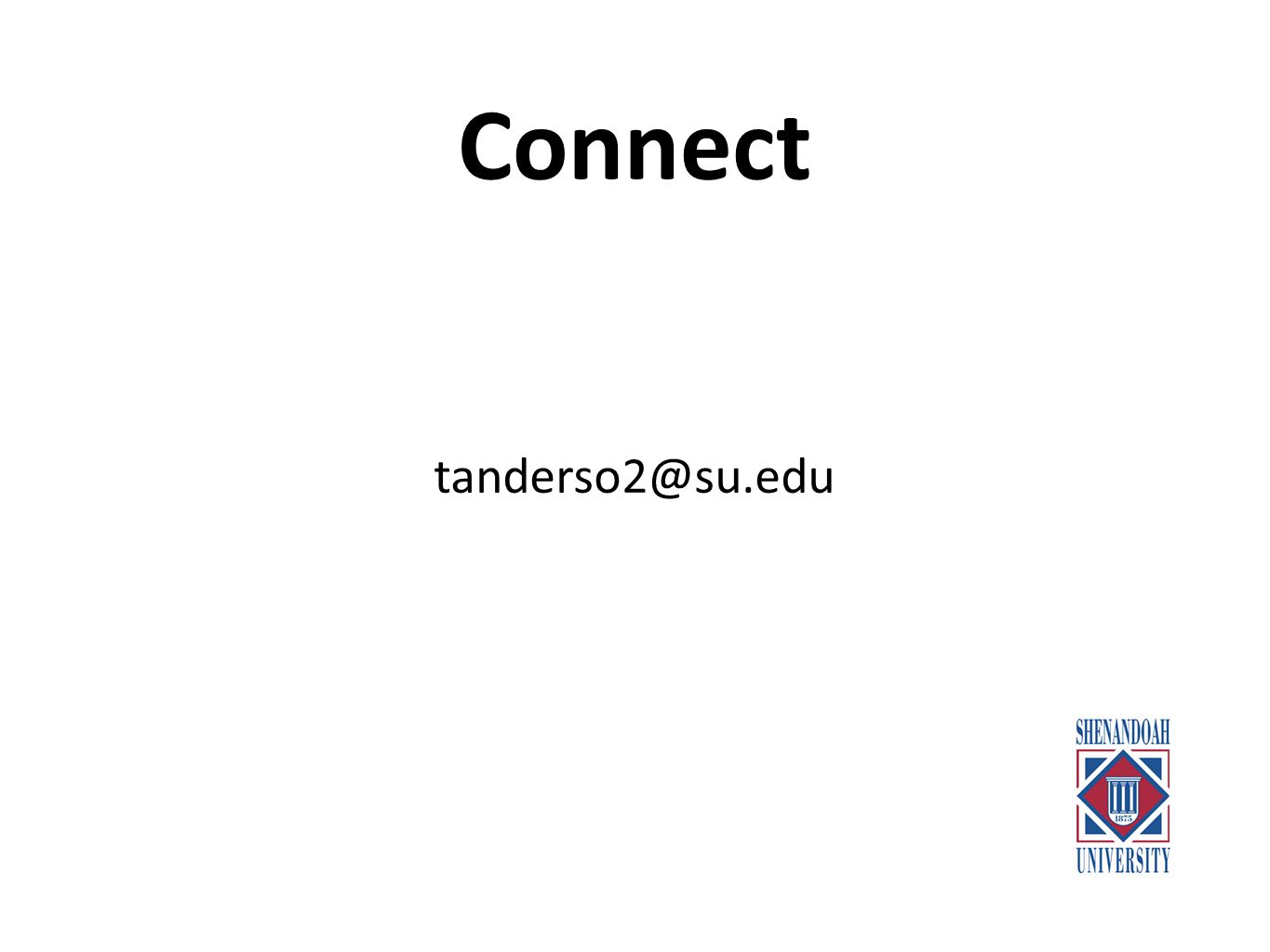 Connect tanderso2@su.edu