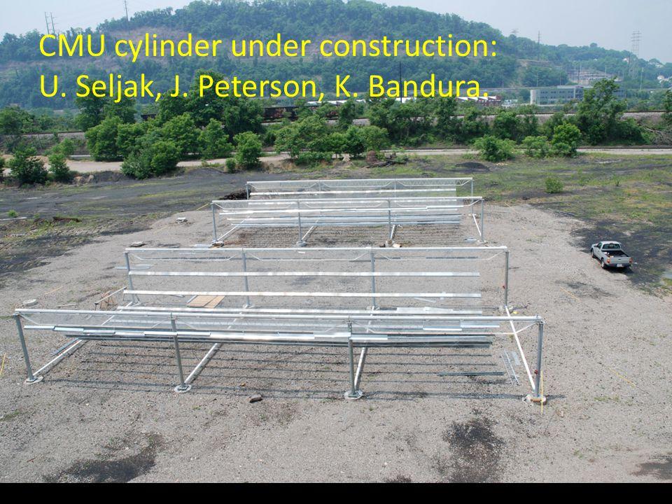 CMU cylinder under construction: U. Seljak, J. Peterson, K. Bandura.
