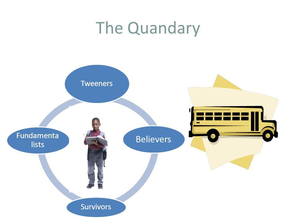 The Quandary Tweeners Believers Survivors Fundamenta lists