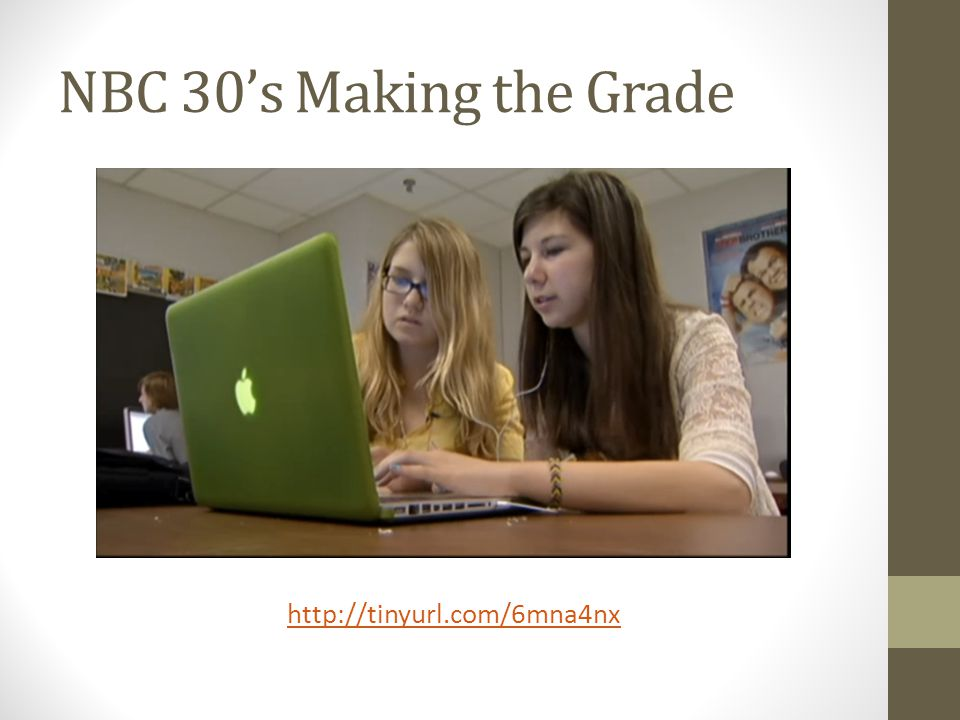 NBC 30's Making the Grade http://tinyurl.com/6mna4nx