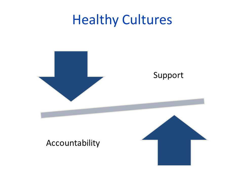 Healthy Cultures Support Accountability