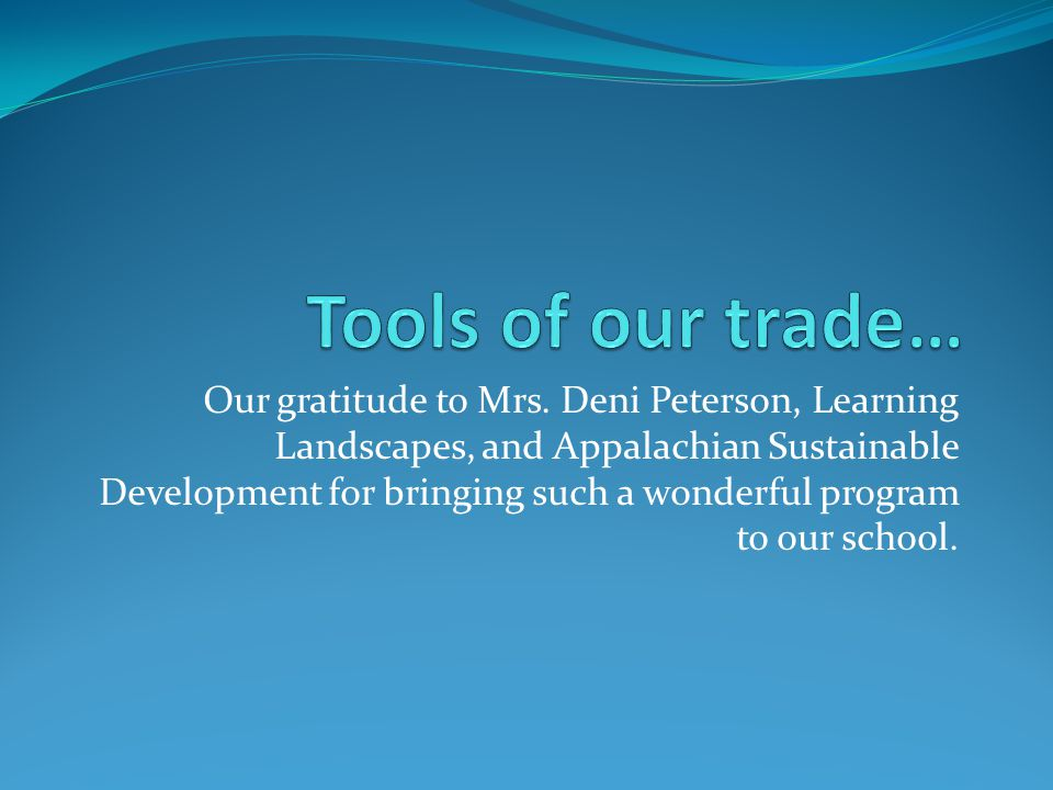 Our gratitude to Mrs.