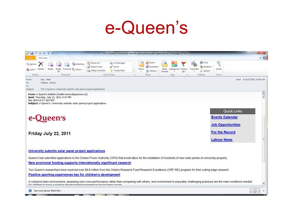 e-Queen's