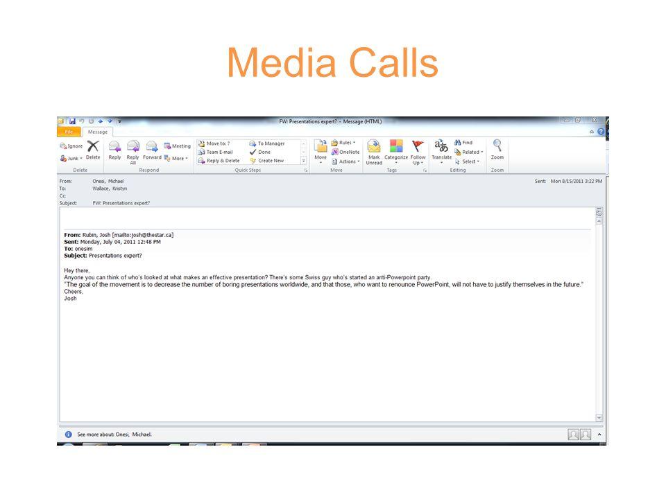 Media Calls