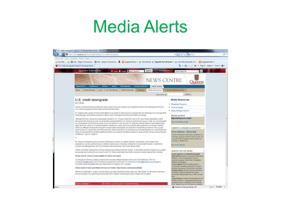 Media Alerts