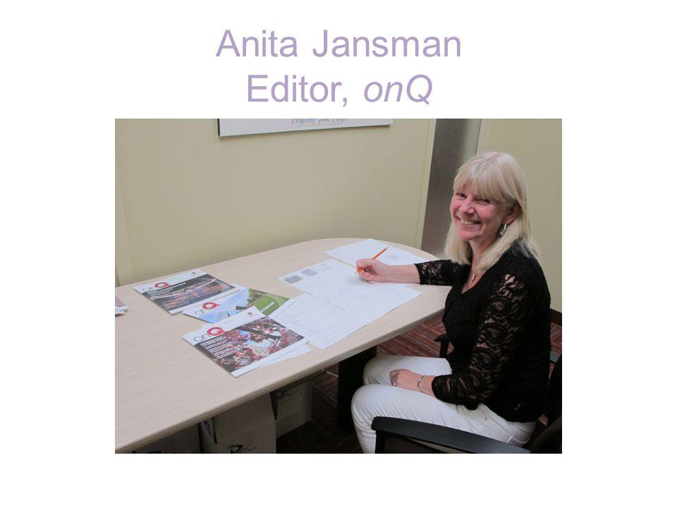 Anita Jansman Editor, onQ