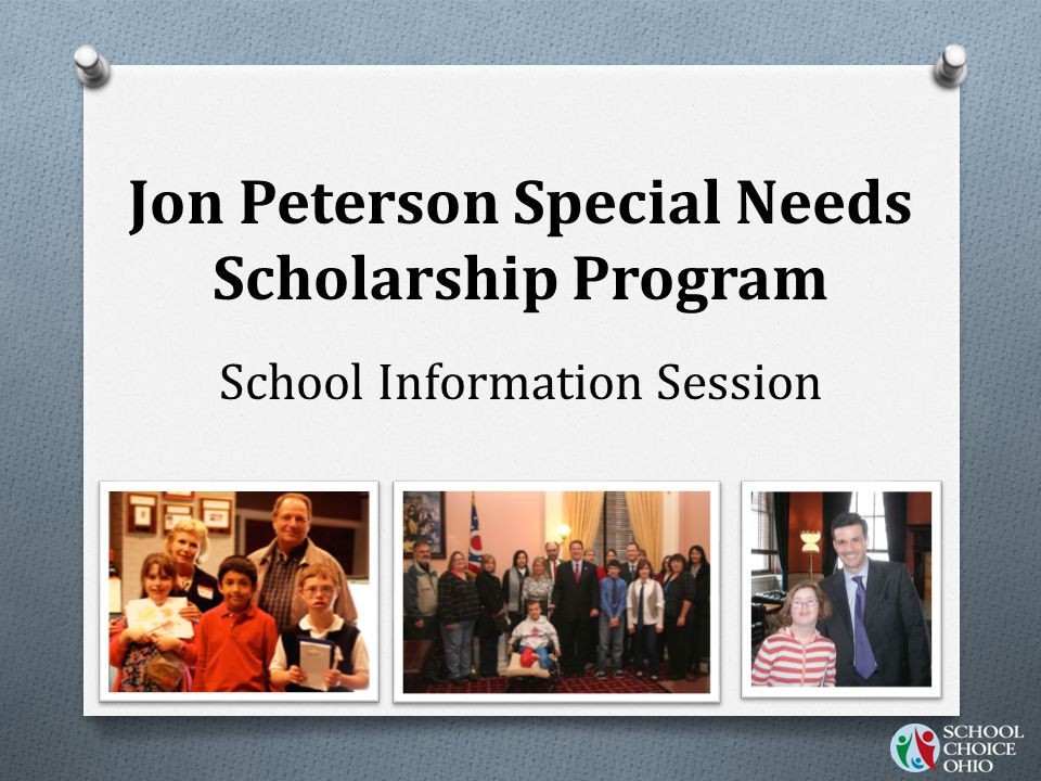 O Schools must have a licensed special educator on staff O Oversee the services for scholarship recipients O Can be part-time or full-time O Can be shared by other private- schools Requirements for private schools