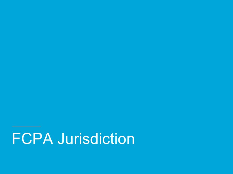 FCPA Jurisdiction