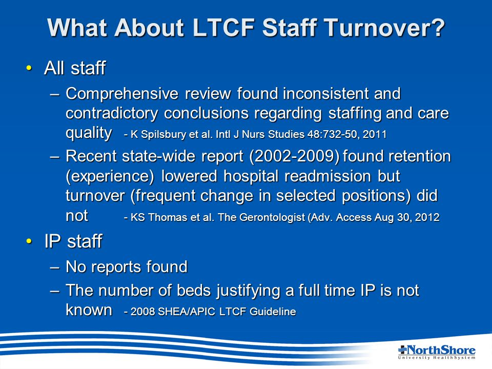 What About LTCF Staff Turnover.