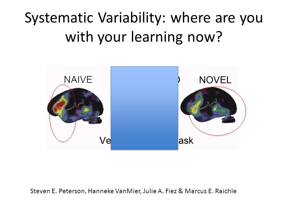 Systematic Variability: where are you with your learning now.