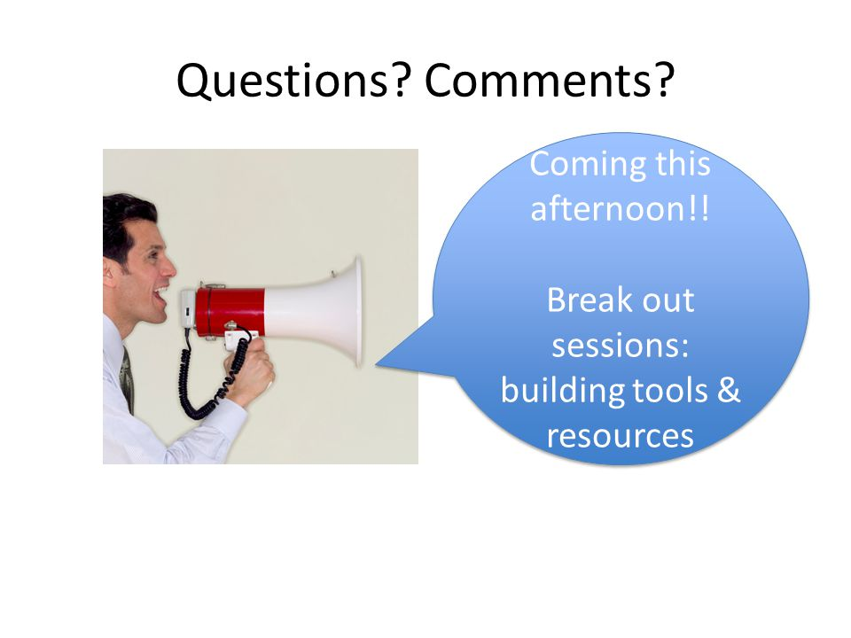 Questions.Comments. Coming this afternoon!.