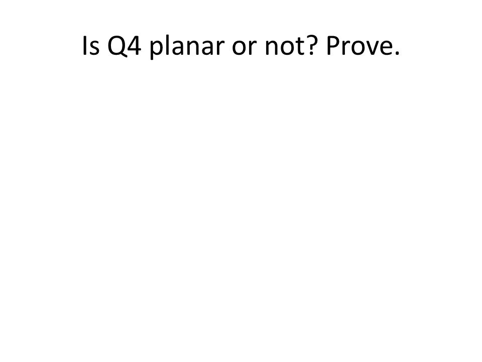 Is Q4 planar or not? Prove.