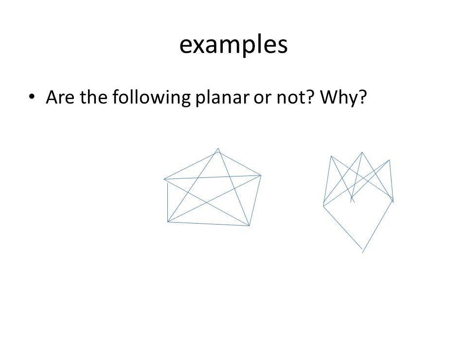 examples Are the following planar or not? Why?