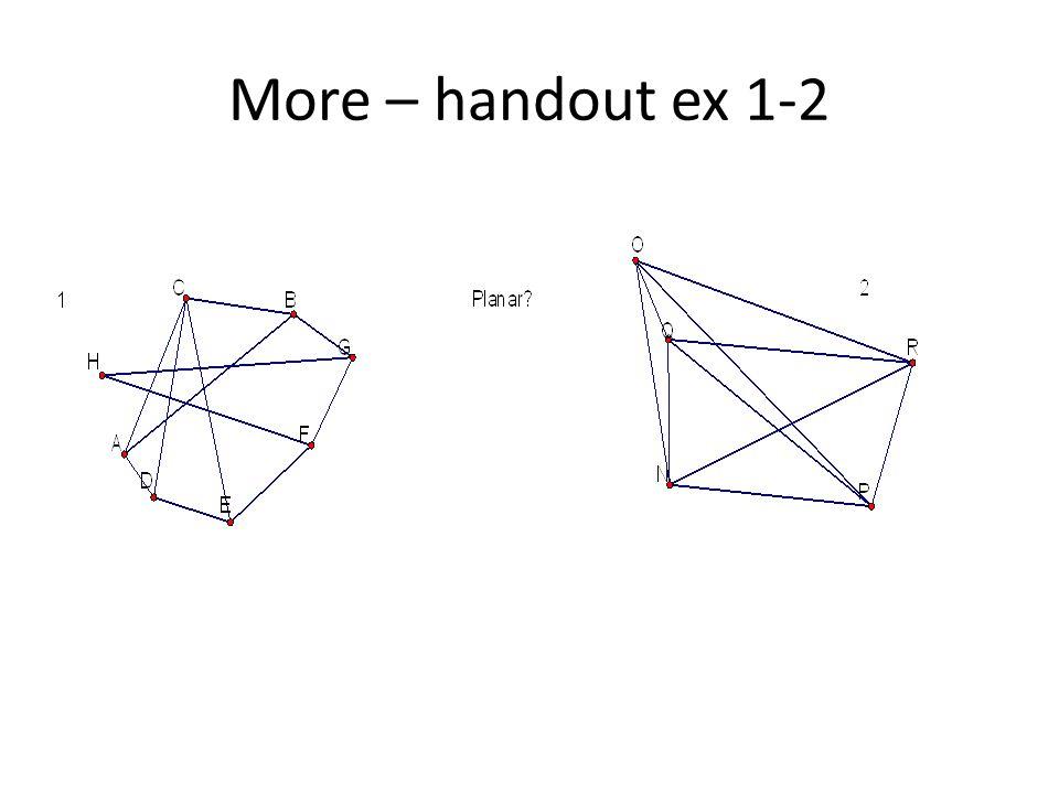 More – handout ex 1-2