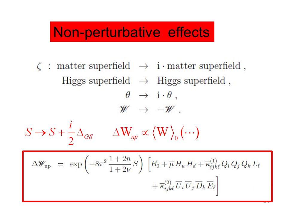 Title of talk26 Non-perturbative effects