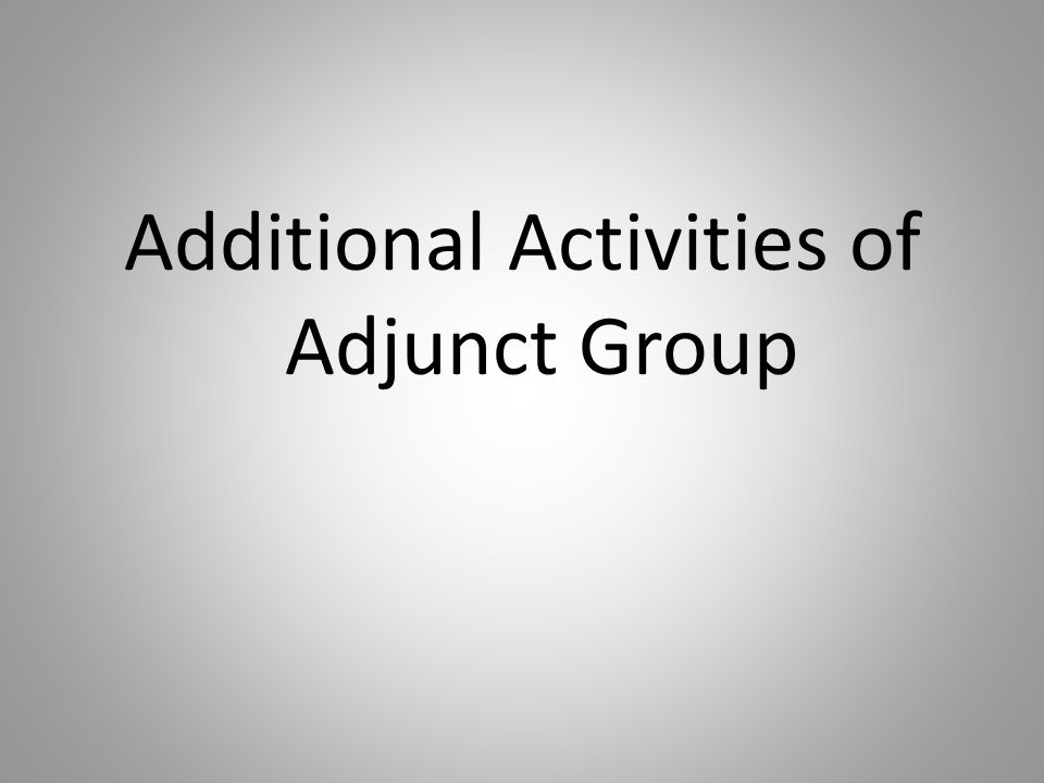 Additional Activities of Adjunct Group