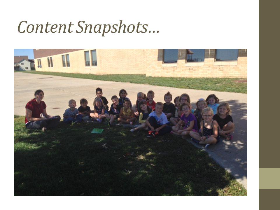 Content Snapshots…