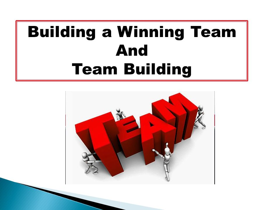 Building a Winning Team And Team Building