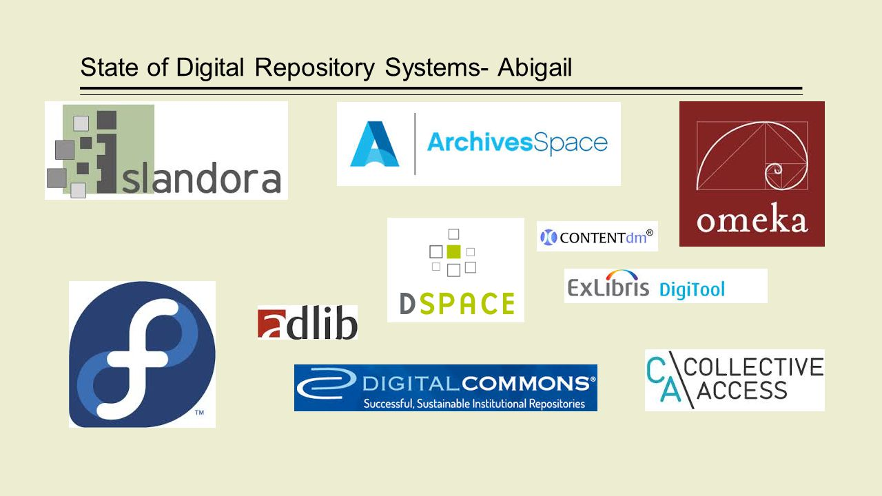 State of Digital Repository Systems- Abigail