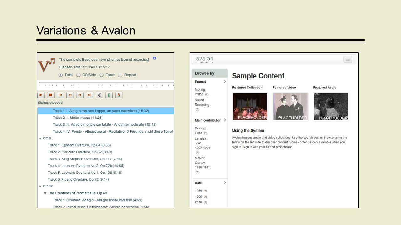 Variations & Avalon