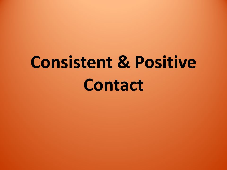Consistent & Positive Contact
