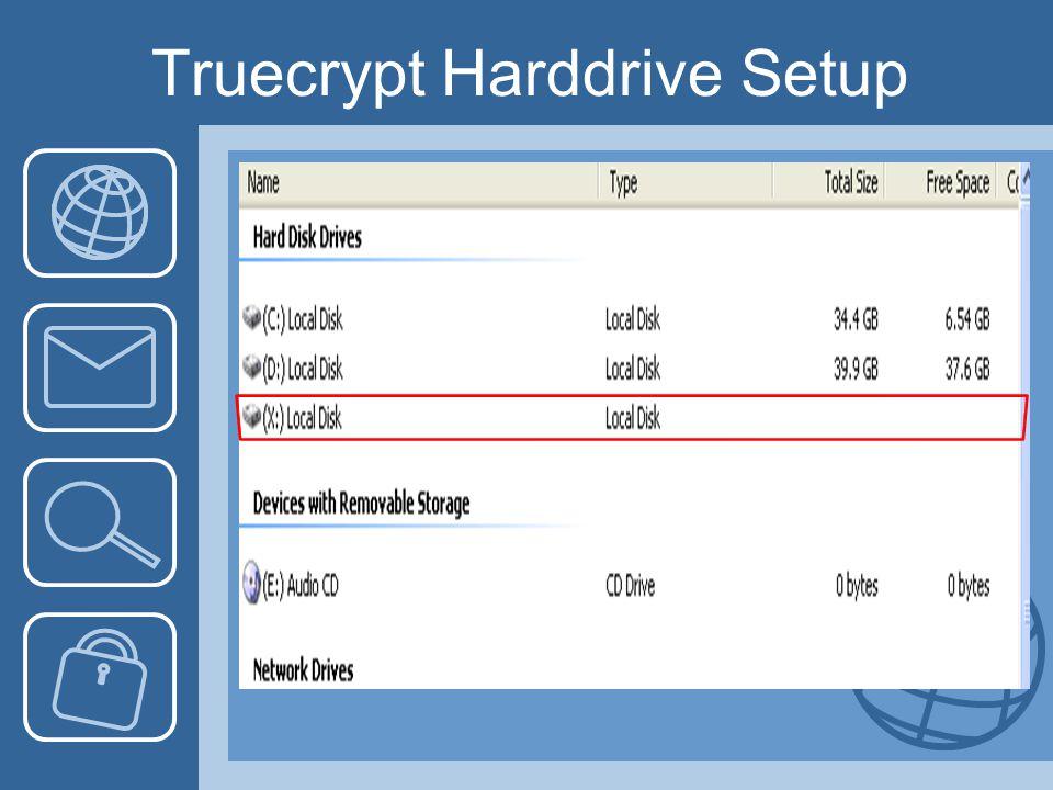 Truecrypt Harddrive Setup