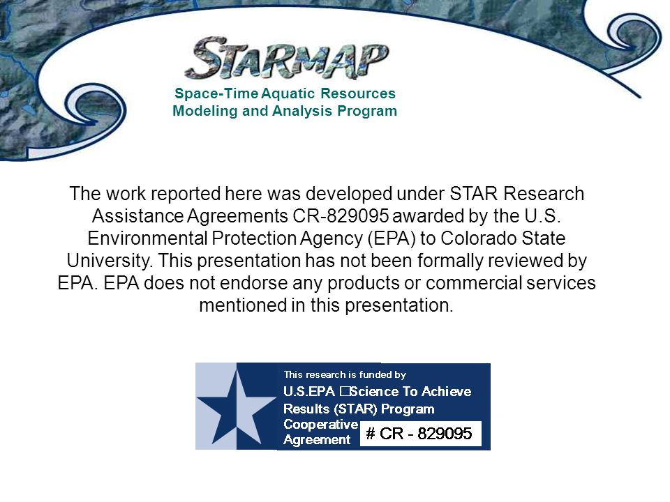 The work reported here was developed under STAR Research Assistance Agreements CR-829095 awarded by the U.S. Environmental Protection Agency (EPA) to