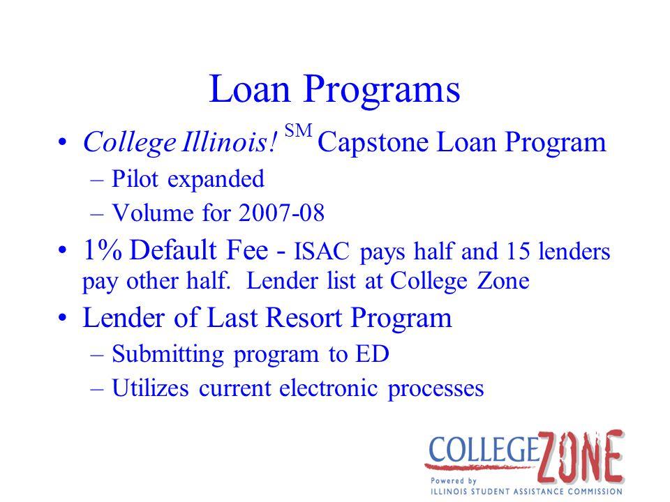 Loan Programs College Illinois.