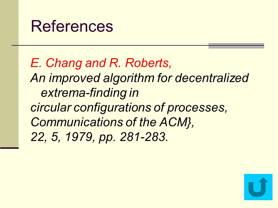 References E.Chang and R.