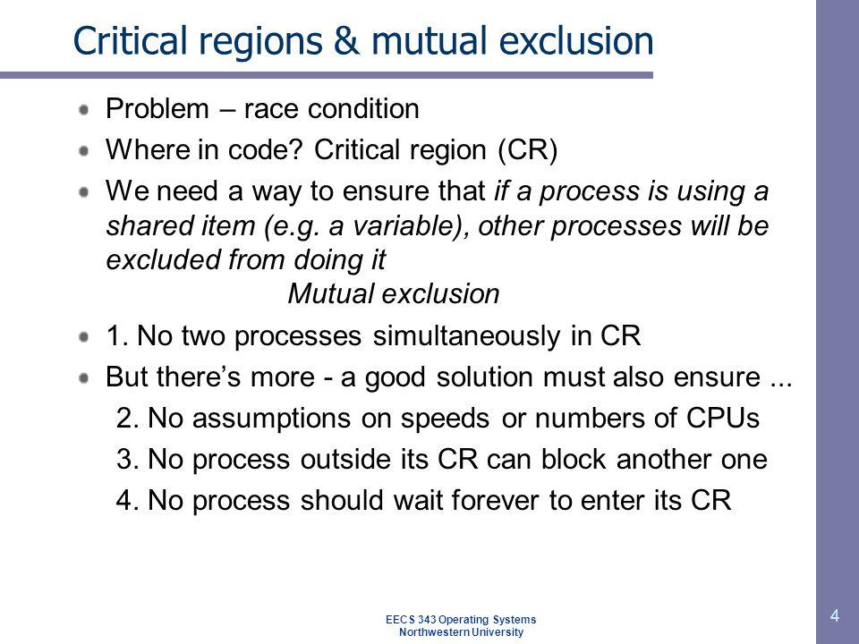 5 Ensuring mutual exclusion Lock variable.