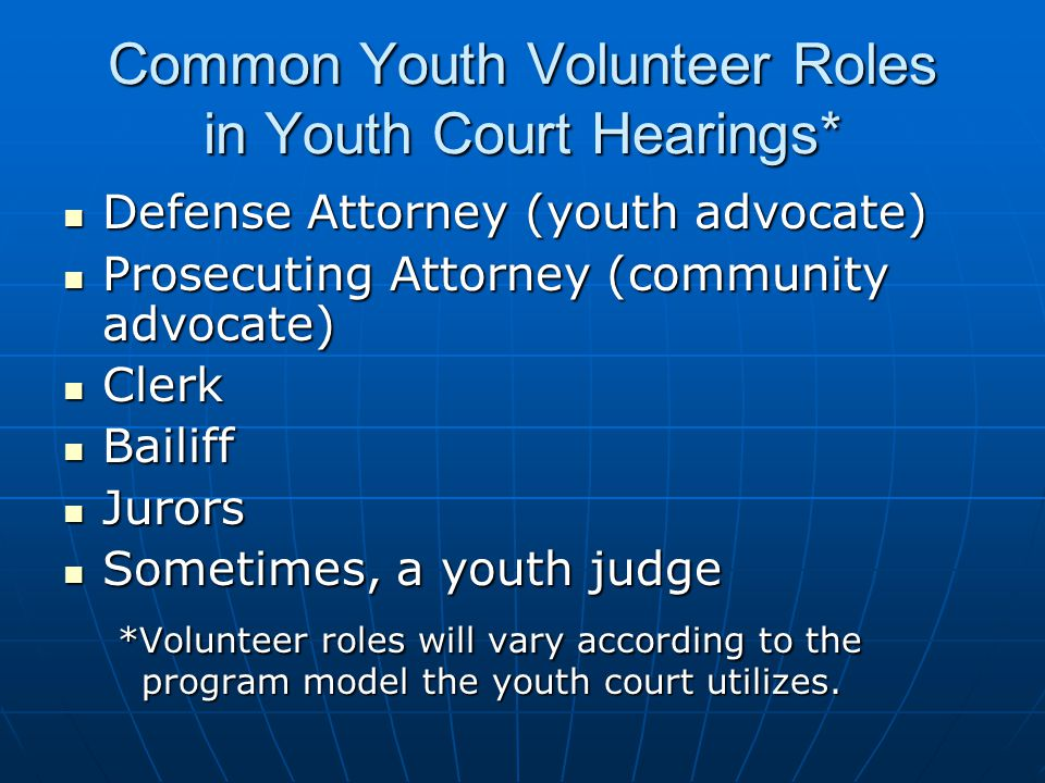 What Makes Youth Courts Appealing.