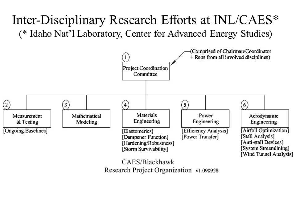 Inter-Disciplinary Research Efforts at INL/CAES* (* Idaho Nat'l Laboratory, Center for Advanced Energy Studies)