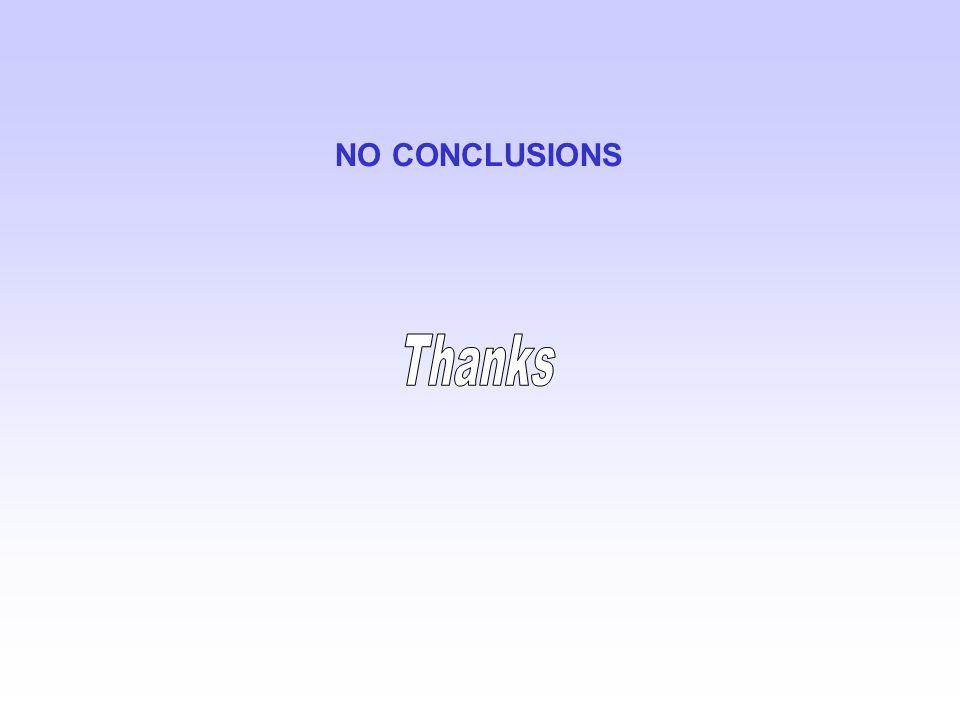 NO CONCLUSIONS