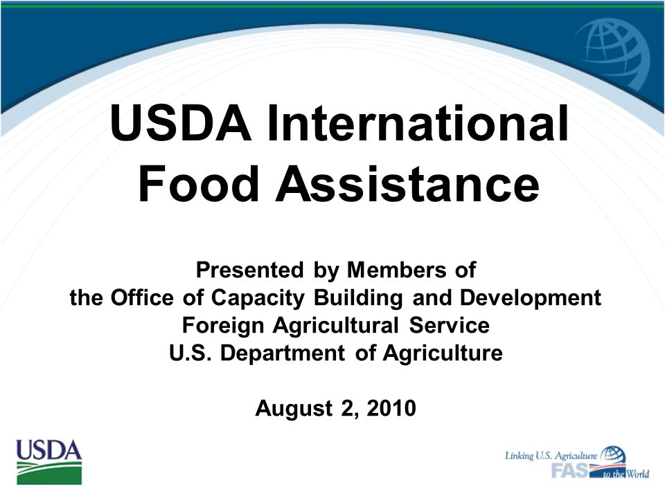 Evaluation of the USDA LRP Project In early FY 11, USDA will hire a qualified organization to conduct an independent evaluation of the pilot project.