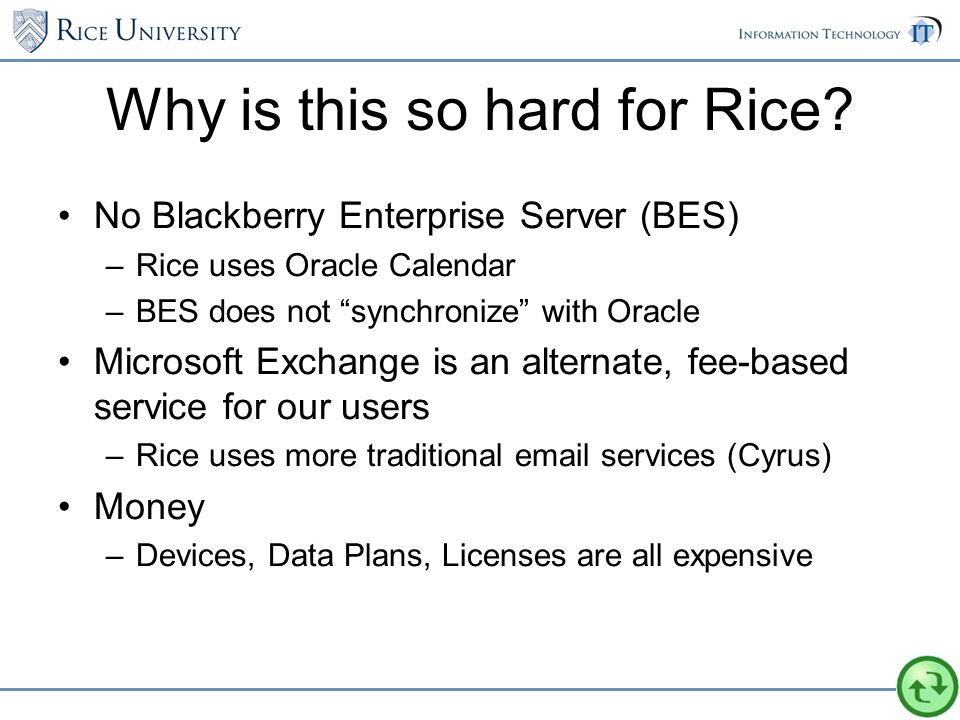 Why is this so hard for Rice.