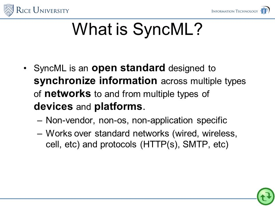 What is SyncML.