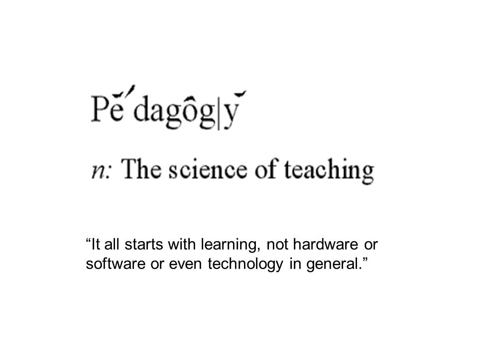 When the focus is on teaching and not technology, ICT offers a diverse toolkit.