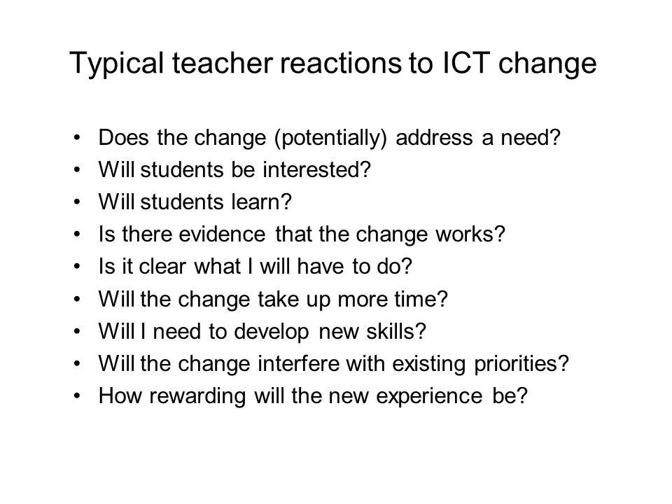 What will teachers need.