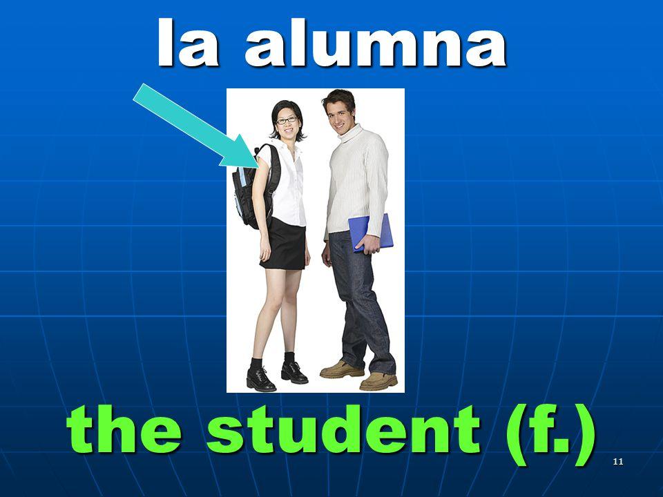 10 el alumno the student (m.)