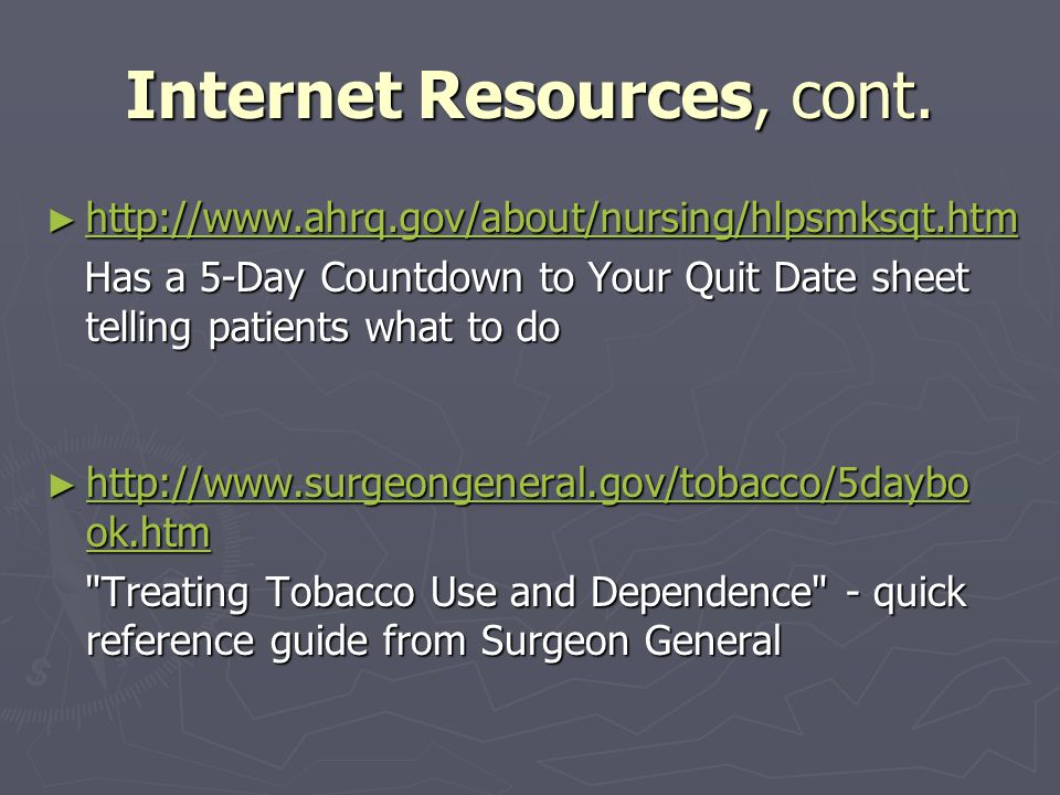 Internet Resources, cont.