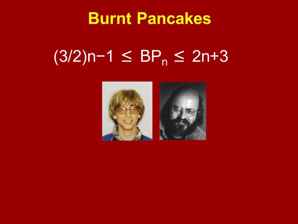 (3/2)n−1 ≤ B P n ≤ 2n+3 Burnt Pancakes