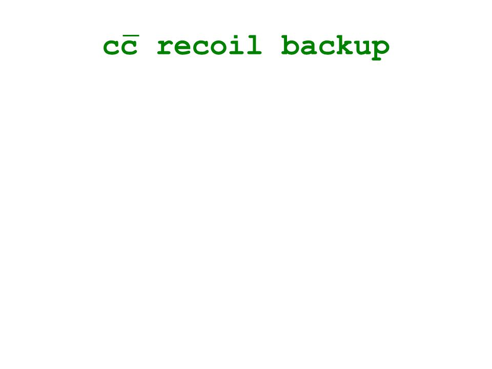 cc recoil backup