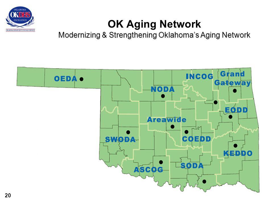 20 Modernizing & Strengthening Oklahoma's Aging Network OK Aging Network Modernizing & Strengthening Oklahoma's Aging Network