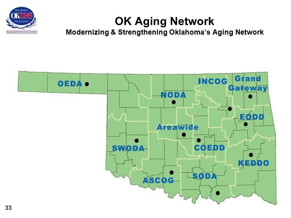 33 Modernizing & Strengthening Oklahoma's Aging Network OK Aging Network Modernizing & Strengthening Oklahoma's Aging Network